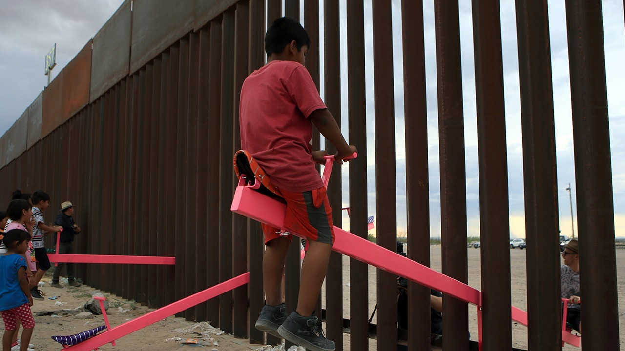 See-saws at the U.S.- Mexico border connects two nations with 'joy' and 'excitement'