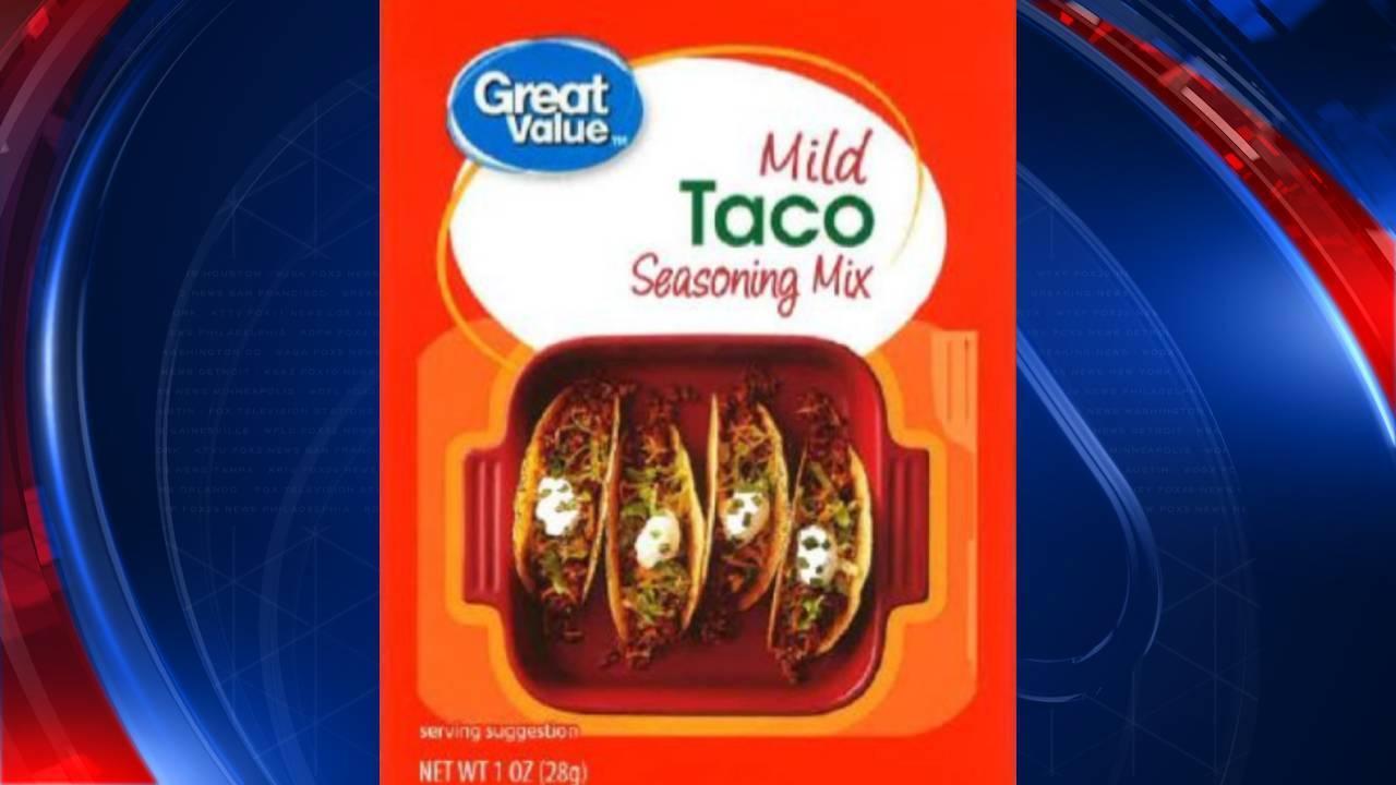 Taco seasoning sold at Walmart recalled due to Salmonella concerns
