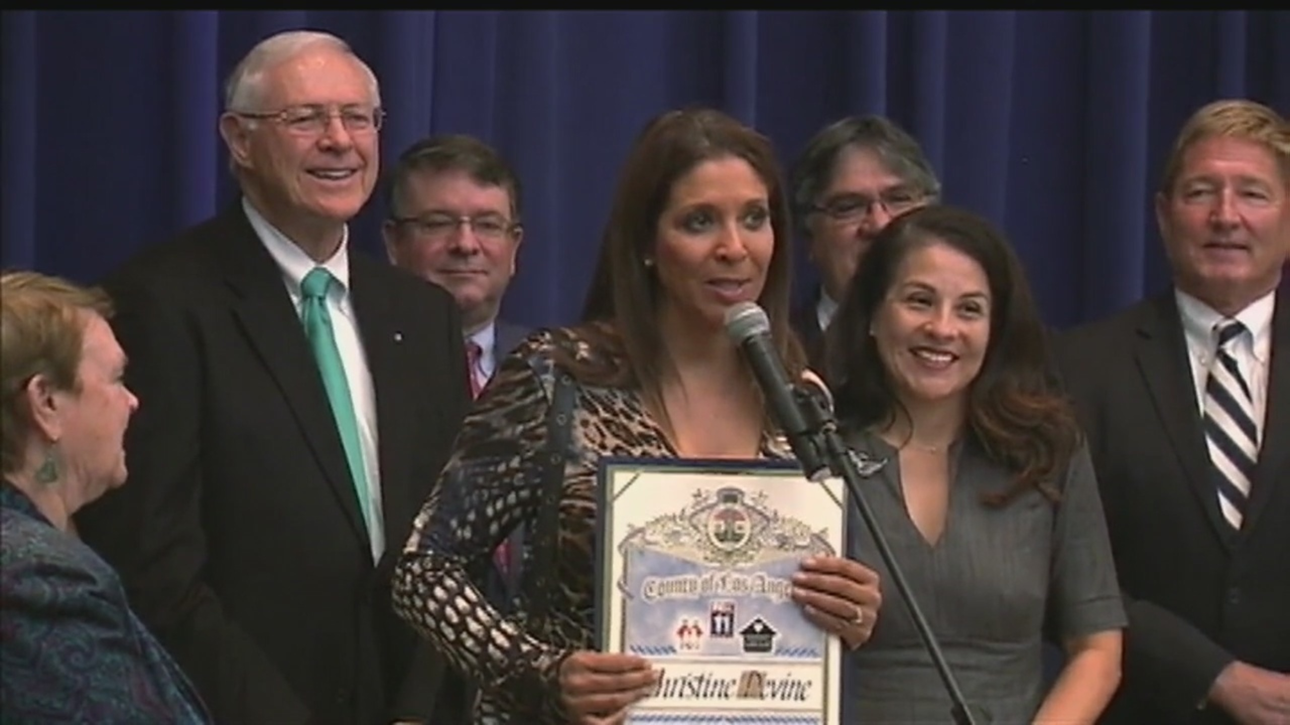 FOX 11's Christine Devine honored for work with Wednesday's Child