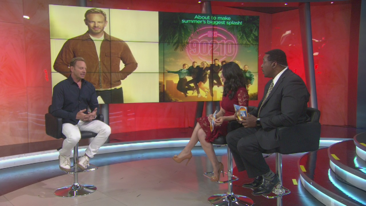 Ian Ziering gets choked up talking about friend, co-star Luke Perry