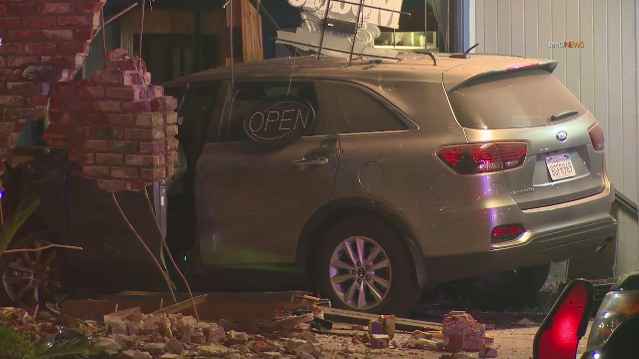 Car Crash Los Angeles: Car Crashes Into Covina Building