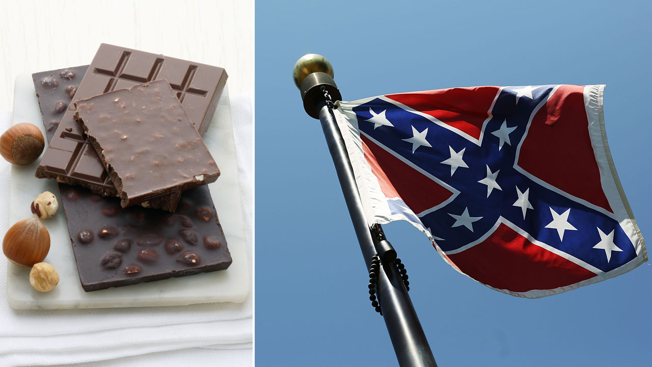 Chocolate shop sells out of sweets after offering deal to anyone who burns Confederate flag